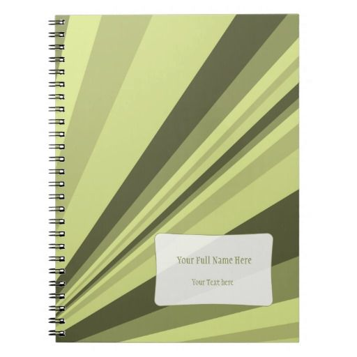 Customizable notebook in olive green shades