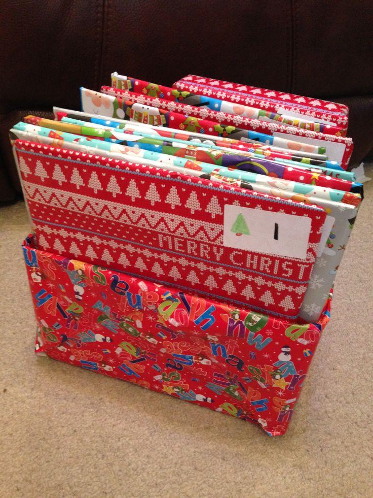 Book Advent Calendar - an alternative advent calendar for toddlers / preschoolers