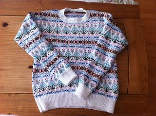 Women's fair isle sweater knitting pattern