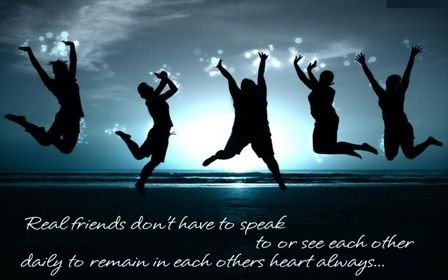 Real Friends Don Have Speak See Each Other Daily Remain