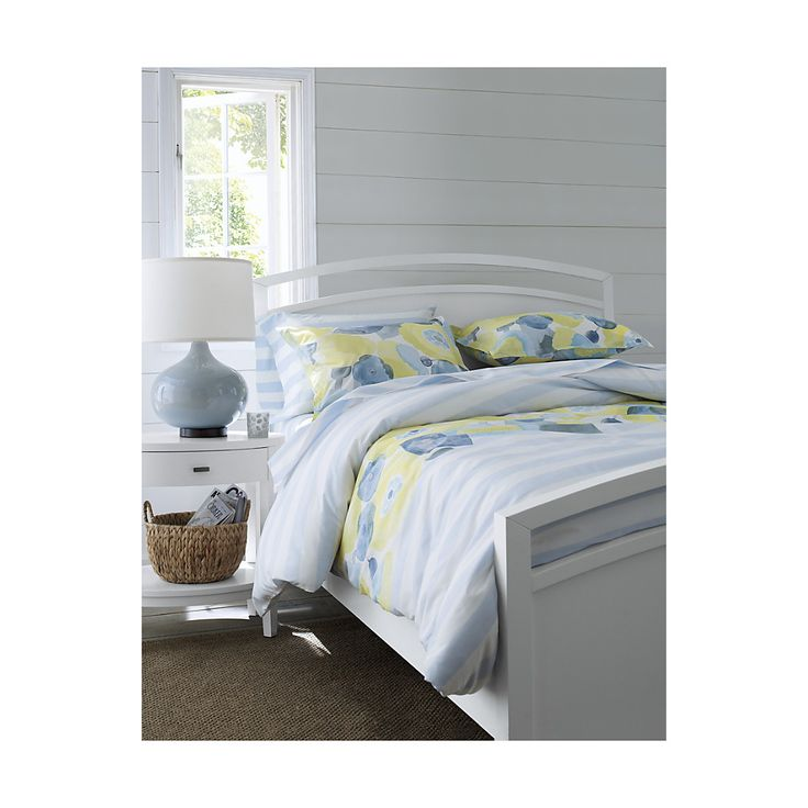 Arch White Queen Bed | Crate and Barrel