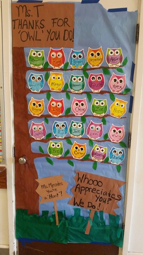 Classroom Decor Gifts ~ Best ideas about owl door decorations on pinterest