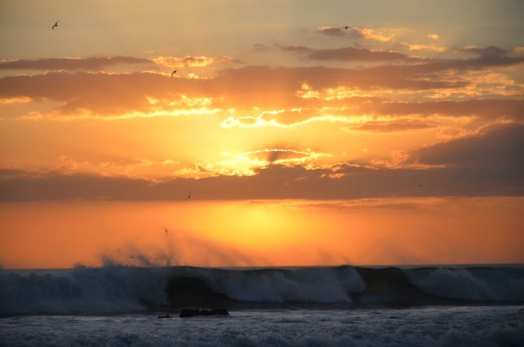 Waves on fire....Amazing sunset in Las Penitas, Nicaragua. Enjoyed from Shark Waves Surfing School