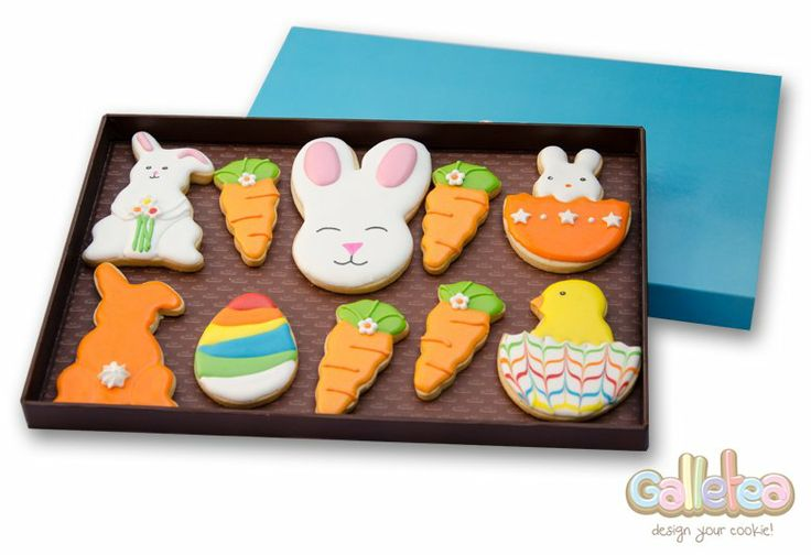 Pack grande especial Pascua en color naranja: http://www.galletea.com/galletas-decoradas/