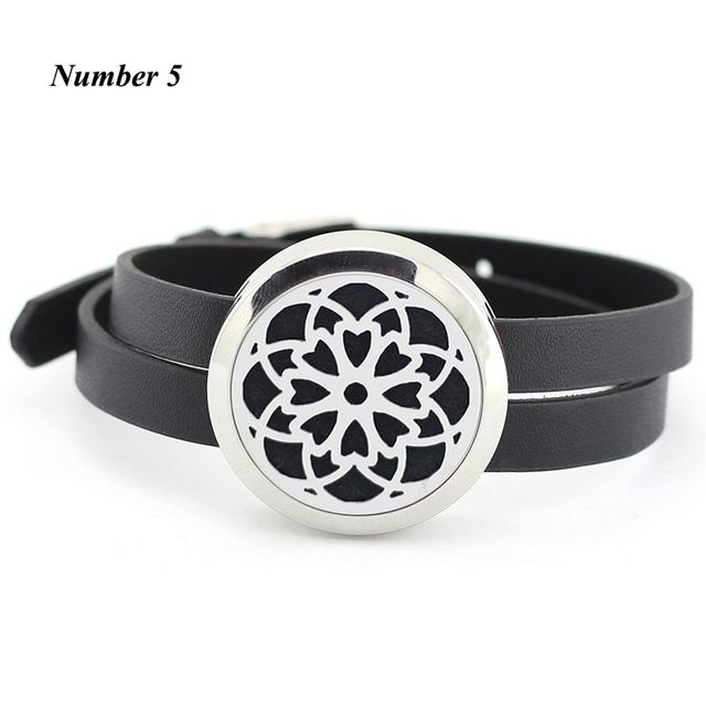 Sale $5.98, Buy 25MM 30MM Aroma Bracelet Floating Locket bracelet Stainless Steel silver Essential oil diffuser Bracelet (free with 5pcs pads)