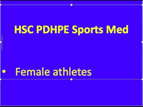 HSC PDHPE Option 3 - Female athletes - YouTube