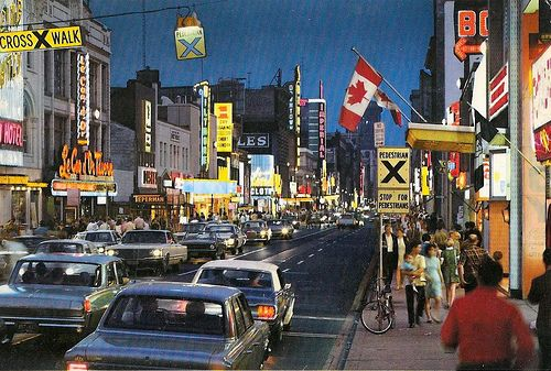 Yonge Street, Toronto, Ontario, circa 1960s