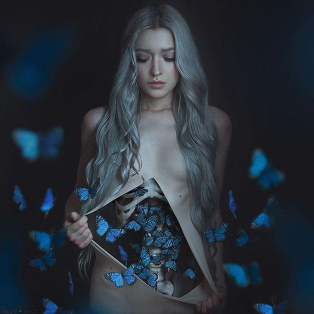 Fotógrafa registra poeticamente a angústia de sua sensação de 'borboletas no estômago'