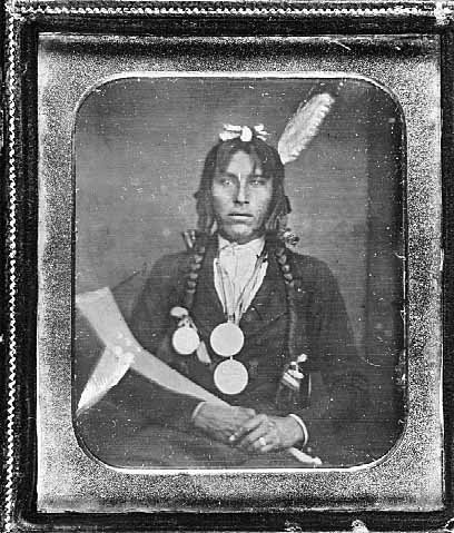Po-go-nay-ke-shick (aka Hole In The Day) - Ojibwa – 1855