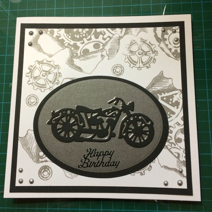 264 best Handmade cards made by Sarah images – Motorbike Birthday Cards