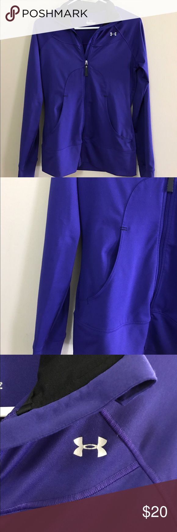 royal blue under armour jacket