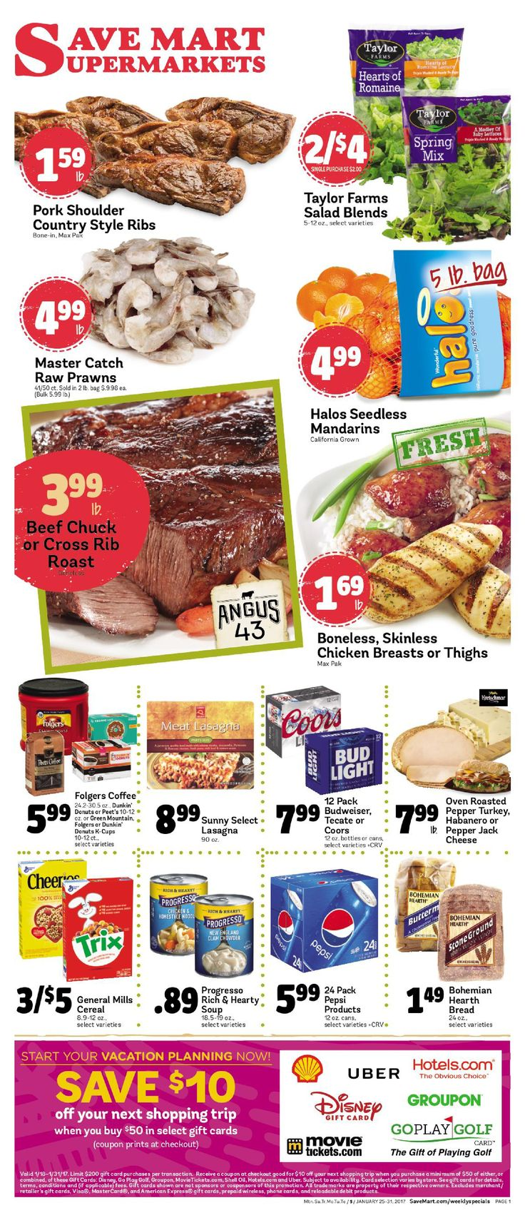 Save Mart Weekly ad January 25 - 31, 2017 - http://www.olcatalog.com/save-mart/save-mart-weekly-ad.html