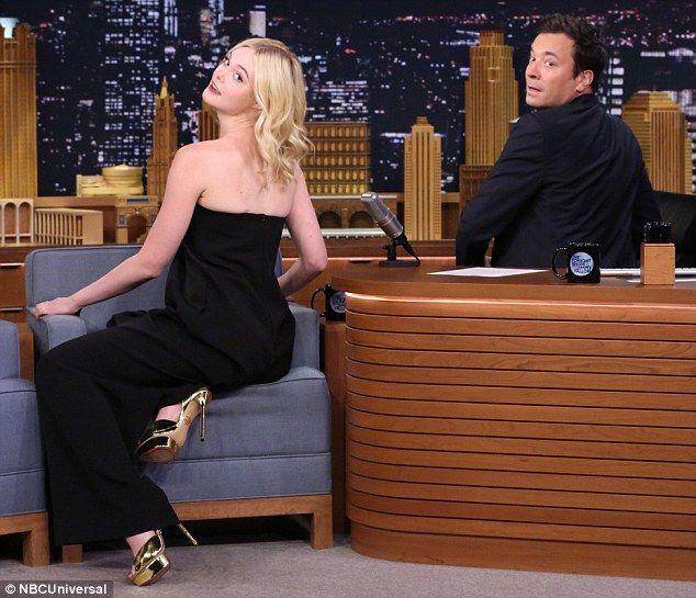 Looking back: Jimmy Fallon followed Elle's instructions from the 'beauty shot' package...