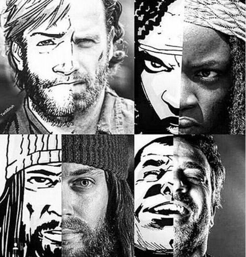 Rick Michonne Jesus Negan, comics vs TWD