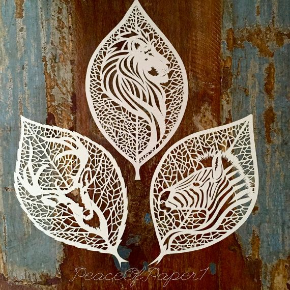 My papercut Zebra leaf is cut from one sheet of acid free cream hammered paper with love and a blade!  All my papercuts are one offs, so therefore