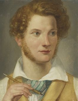 Danish school, early 19th century. Portrait of a young man.