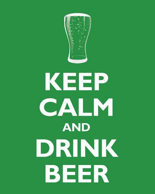 Kep calm and drink beer!