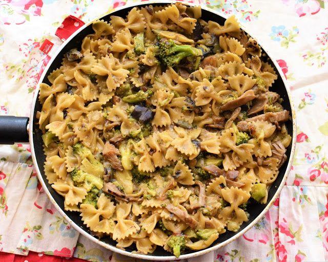Jazzowe Smaki: Makaron z boczniakami i brokułem