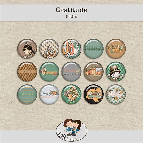 SoMa Design: Gratitude - Flairs