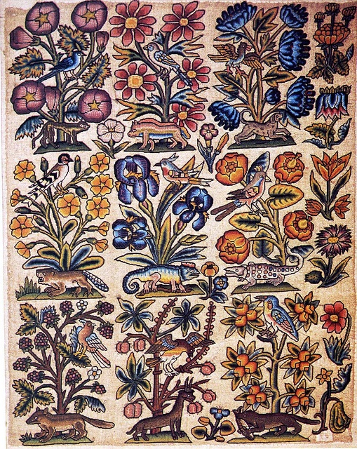 Needlepoint panel 17th century by Design Decoration Craft, via Flickr