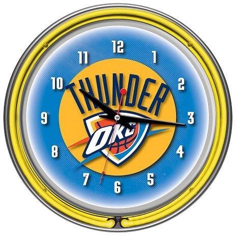 NBA Oklahoma City Thunder Team Logo Wall Clock