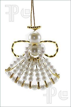 angel Christmas ornament made of beads