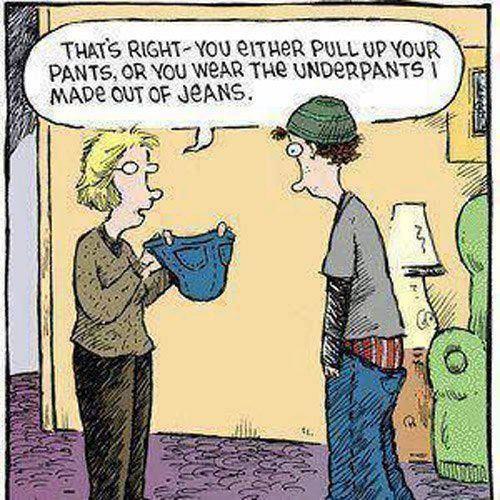Funny teenager cartoon
