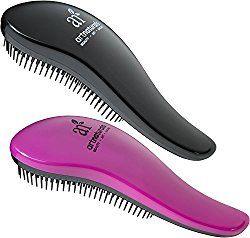 Art Naturals Detangling Hair Brush 2pc Set, Pink & Black - Glide the Detangler Through Tangled Hair - Best Brush / Comb for Women, Girls, Men and Boys - Use in Wet and Dry Hair - Top Detangling Brush by ArtNaturals