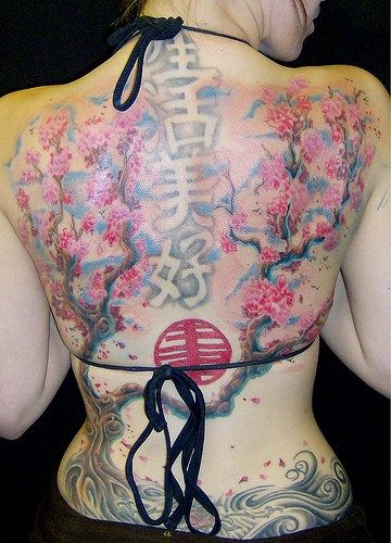 Japan Cherry Blossom Tree Tattoo | Tribal Tattoos Collections: cherry tree tattoos