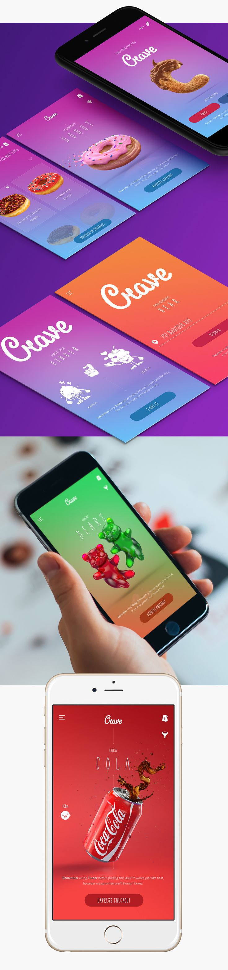 Crave App on Behance