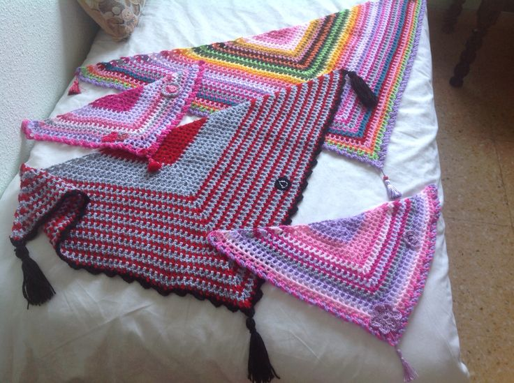 Family Pack of Road scarves for babes & parents. My pattern Oct 2016