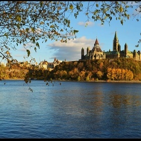 Visiting Parliament Hill, in #Ottawa, #Canada -with Knockout! Sarah.