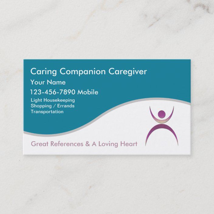 Caregiver Business Cards Zazzle Com Best Travel Credit Cards Travel Credit Cards Compare Credit Cards
