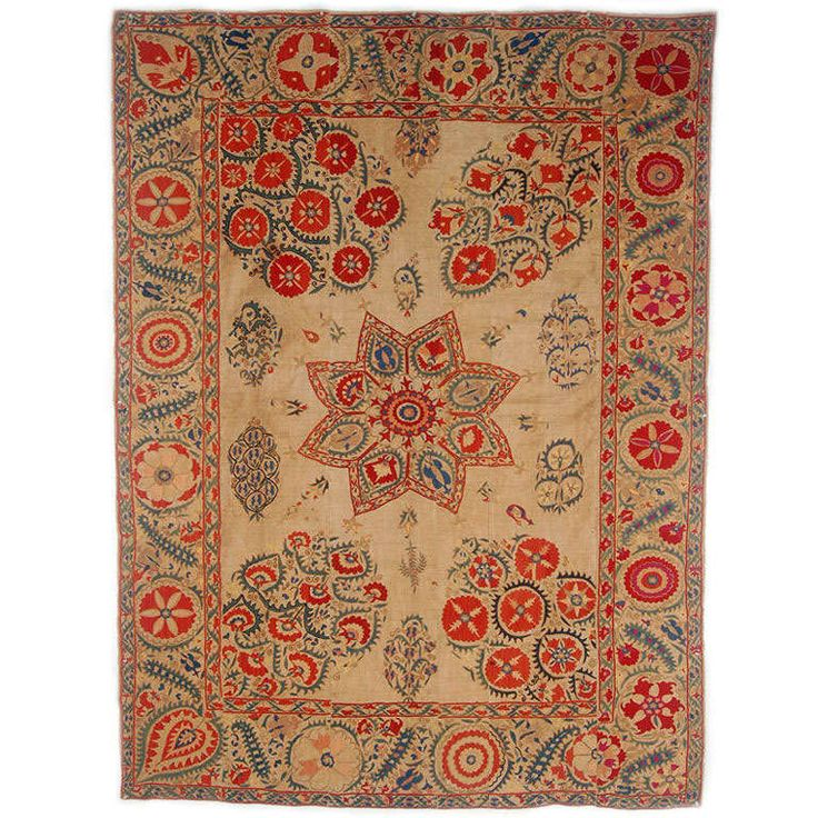 Suzani | From a unique collection of antique and modern textiles and quilts at http://www.1stdibs.com/furniture/more-furniture-collectibles/textiles-quilts/