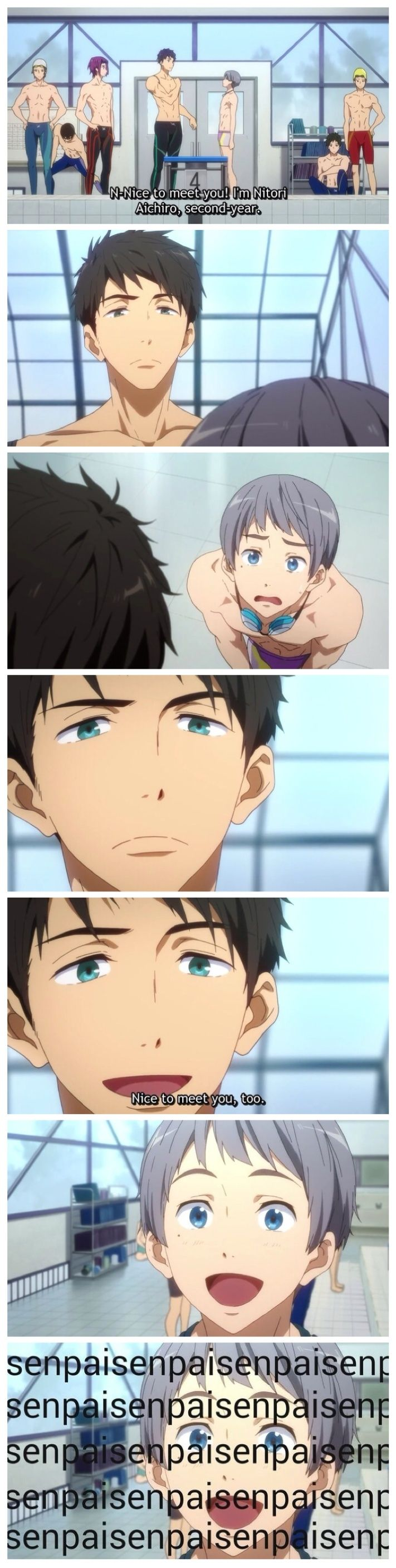 Free! ES ~~ Yes, this is perfect. The pairing would be nice, too, if a certain seme can stop obsessing over the uke who got away back-in-the-day.... :: Sosuke and Aiichiro
