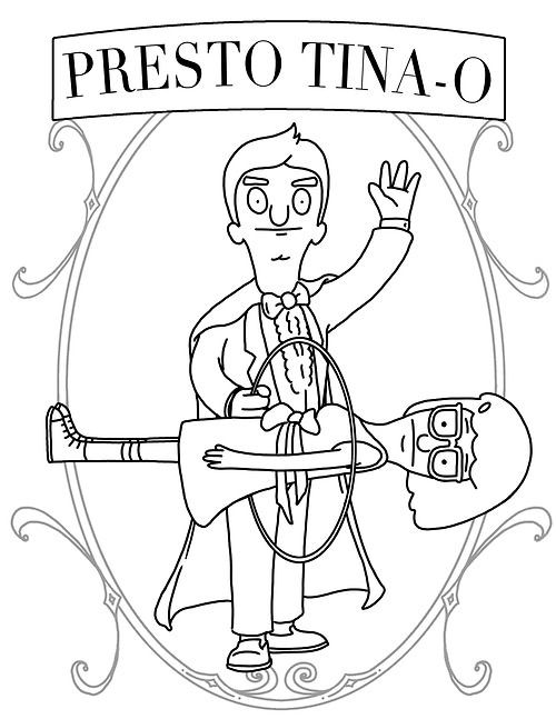 Bob S Burgers Coloring Pages Printable Bob Best Free