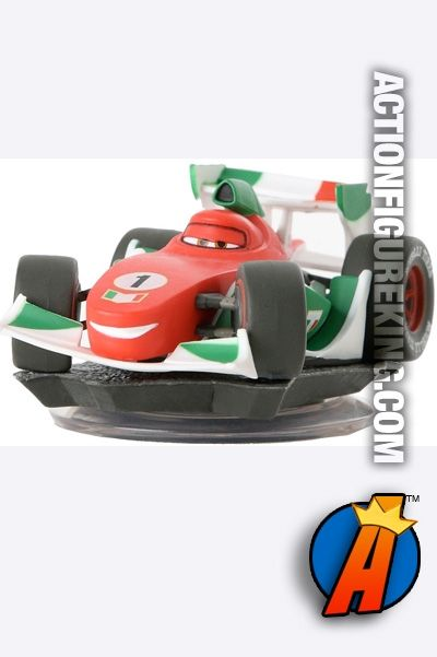 Disney Infinity game system Cars' Francesco figure and gamepiece. Visit our website for a full line of Disney Infinity figures and collectibles including pricing and availability.