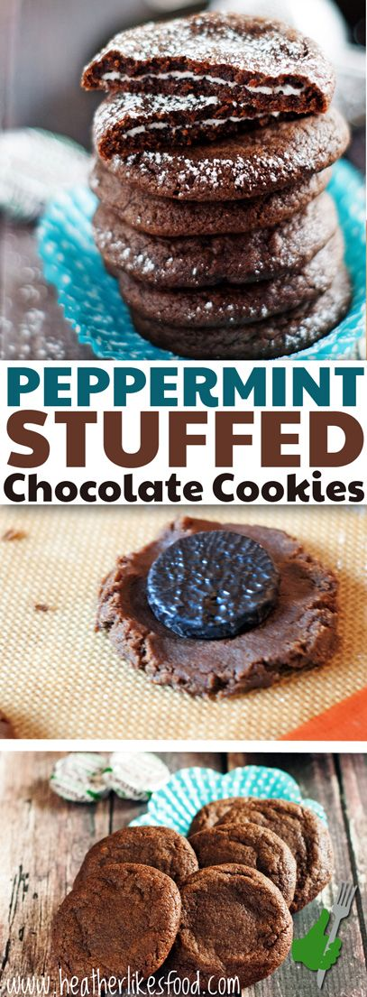 These cookies won't last long this holiday season! Who doesn't love a rich chocolate cookie stuffed with a cool peppermint patty? Perfect for dunking in a cold glass of milk or hot cup of cocoa.