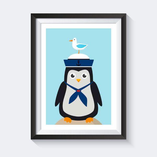 Vintage A Poster Kinderzimmer Bild Kinder Poster maritim