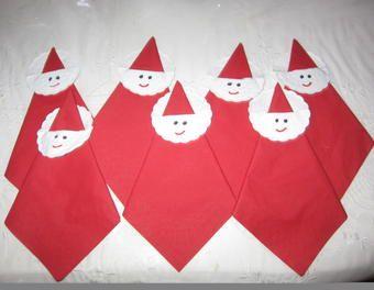 Weihnachtliche Nikolaus Servietten - Miniprojekt Weihnachten,Deko,Nikolaus,Servietten,Tischdeko