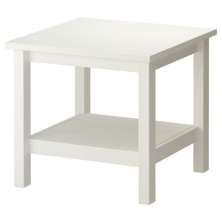 Ikea Ikea Hemnes Side Table Tables: HEMNES Side Table, White Stain White