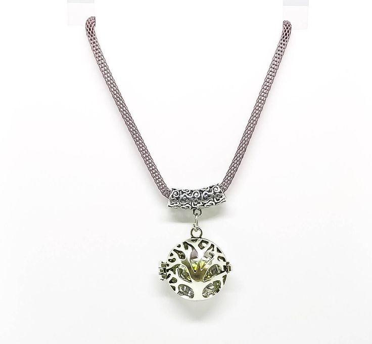 The Tree Of Life Crystal Swarovski Pendant Mauve Snake Chain Stainless Steel Lobster Clasp Short Necklace by rebrojewellery on Etsy https://www.etsy.com/listing/566452819/the-tree-of-life-crystal-swarovski