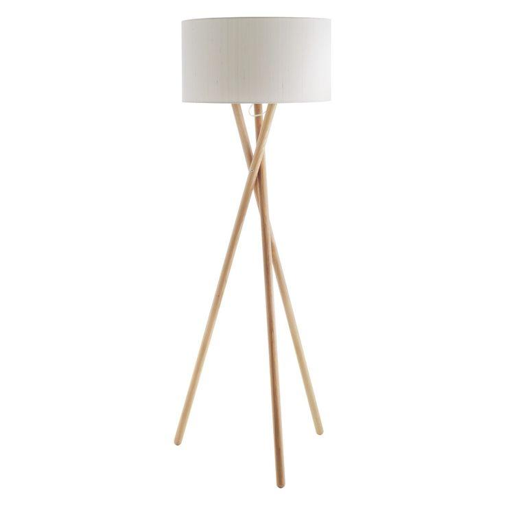 LANSBURY Ash wooden tripod floor lamp base   Buy now at Habitat UK