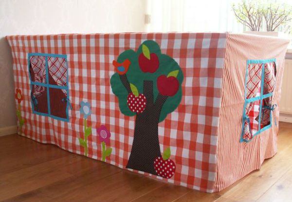 Toalhas de mesa que viram cabanas: 15 modelos incríveis para fazer para seu filho!