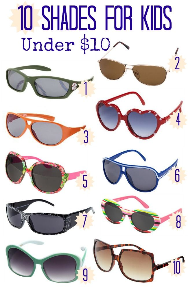 Looking for some great and affordable sunglasses for camp? Check out this list and don't forget your shades!