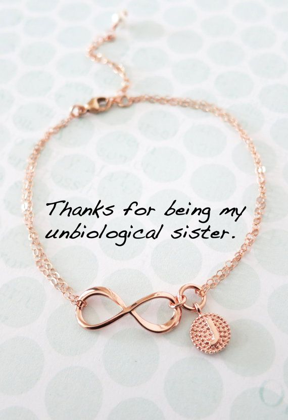 Personalized Rose Gold Infinity Bracelet - Infinity charm, rose gold filled, forever love, bridal, bridesmaid, best friends, www.colormemissy.com