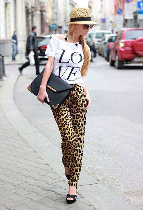 Leopard: Outfits, Leopard Print, Fashion Style, Graphics Tees, Leopards Pants, Street Style, Leopard Pants, Animal Prints, Leopards Prints