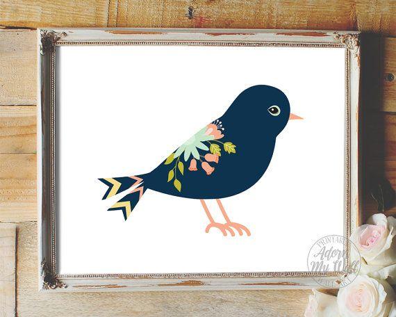 Bird nursery print, nursery art, nursery decor, nursery print, nursery wall decor baby girl nursery bird nursery art bird nursery bird print