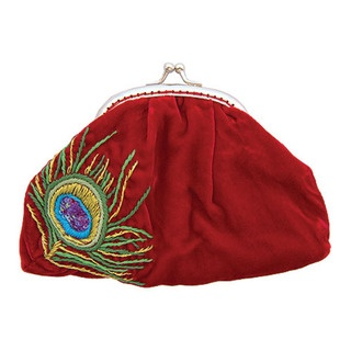 This is the most darling wee coin purse, in sumptuous velvet.