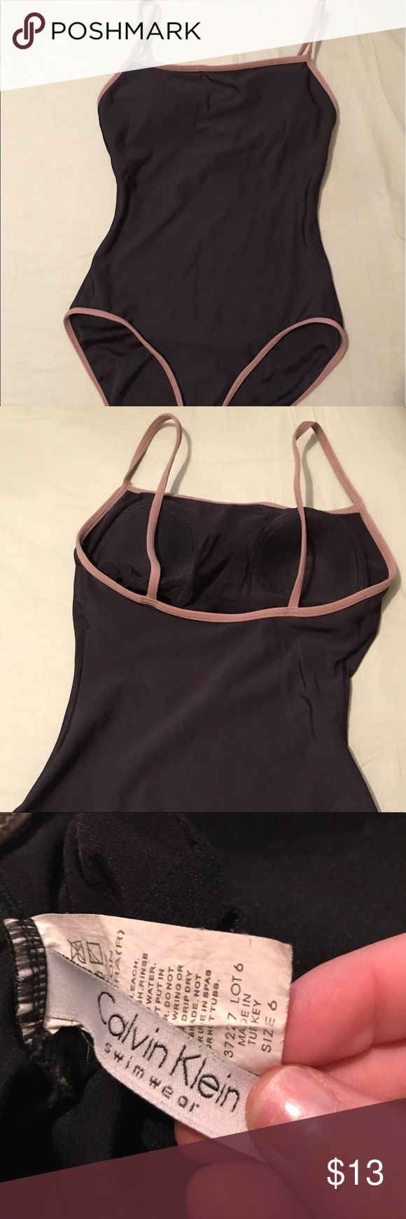 vintage calvin klein one piece swimsuit vintage black and army green one piece calvin klein swim suit. super cute/hipster. in great condition. Calvin Klein Swim One Pieces